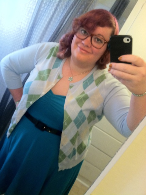 Right before heading out to church for the first time as Mey