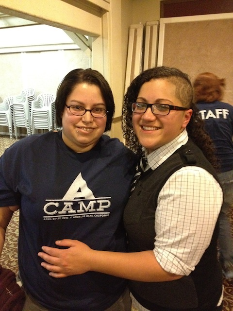 Tory with Autostraddle's Gabby at A-Camp April 2012