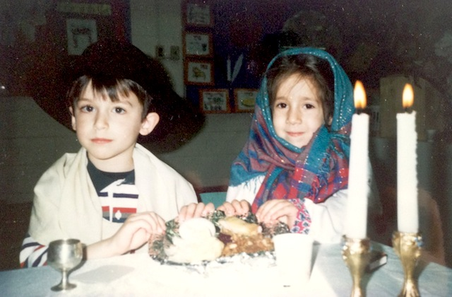 "Look how legit I was being the ""Imah"" (mother) at Jewish Day School."