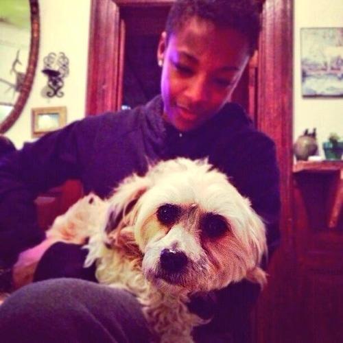 samira-with-dog