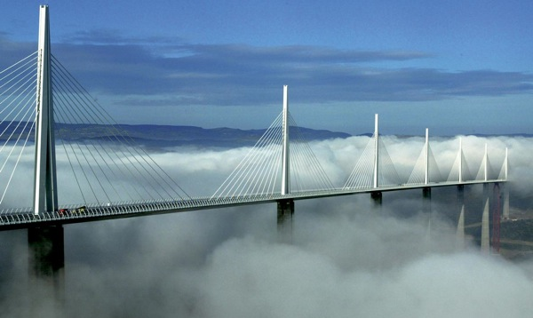 THE MILLAU VIADUCT IN SOUTHERN FRANCE. NO ONE HAS BOTHERED TO ASK IT HOW IT IDENTIFIES.