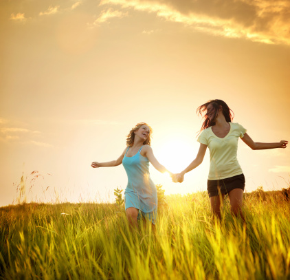 most of all, lesbians prefer to run through wild sunny fields while holding hands