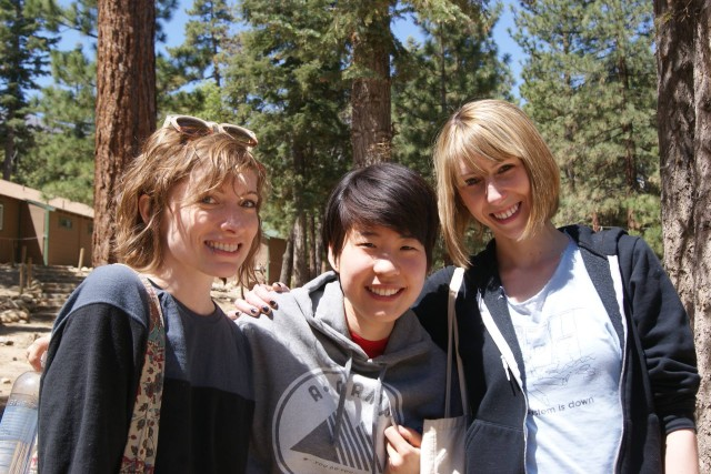 """This picture of me and Laneia and Riese pretty much validated my life."" - Hannah (Laneia, Hannah, and Riese at A-Camp 3.0, May 2013)"