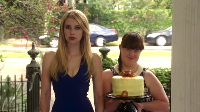 Cake and cleavage welcoming committee
