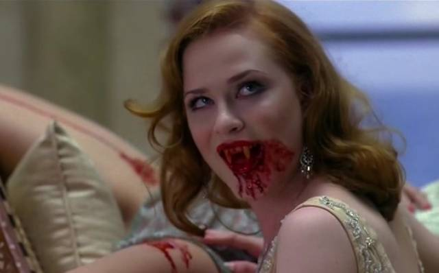 Evan Rachel Wood Bisexual as a vampire on True Blood