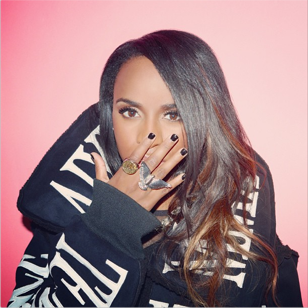 Angel Haze on a pink background