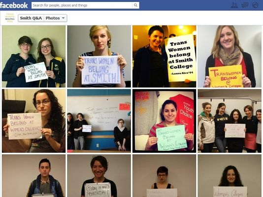 ia www.usatoday.com Caption: Students protest when Smith didn't consider the application of a transgender applicant earlier this year.