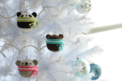 Look at these panda, teddy bear, and koala ornaments! via {All About Ami}