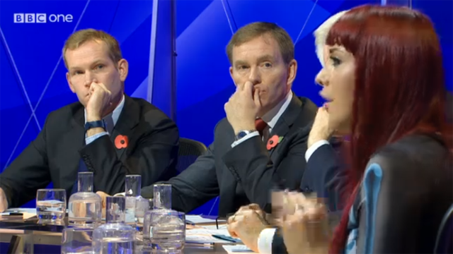 Placing the female panelists at the end of the table = bizarre male staring situation every time they spoke