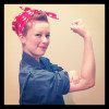Chloe as Rosie the Riveter