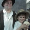 Chris with son CJ (age 7) as the Doctors Jones (Indiana Jones and Indiana Jones' dad)