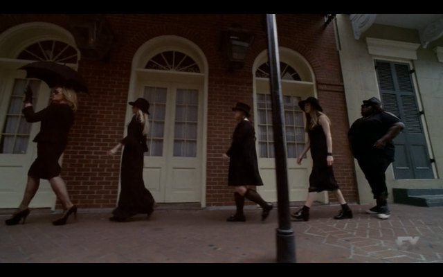 Four little witches in one straight line, the youngest one was Madeline JK we killed her.