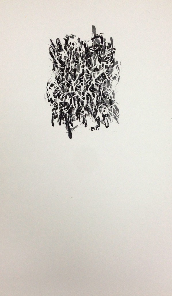 chaos system  11 x 14 in, relief print 2012 via {Jessica Buie}
