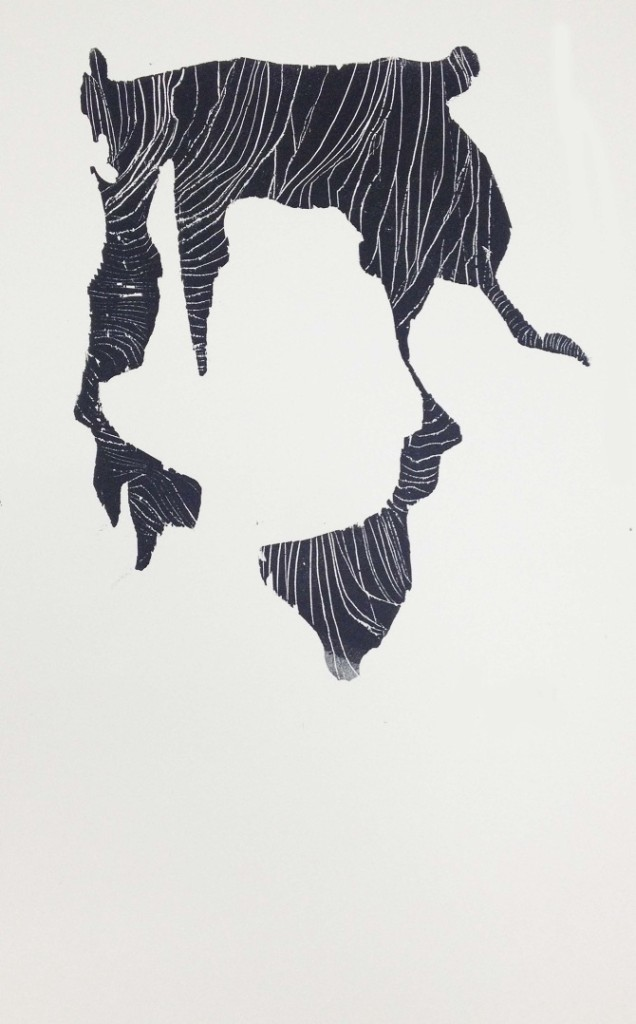 quantum spin liquids 11 x 14 in, relief print 2012 via {Jessica Buie}