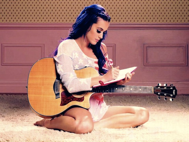 Katy Perry loves to write in her journal when she's not applying cherry chapstick. Via UtepPrintStore