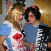Stef (right) as Keyboard Cat