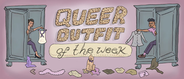 Click for more Queer Outfit of the Week Header by Rory Midhani