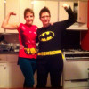 Robin and Marika as Robin and Batman