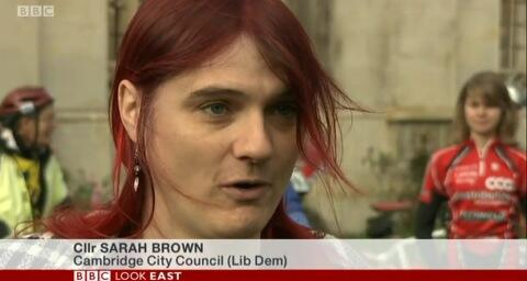 "Cllr Sarah Brown, Britain's only openly trans politician and just one of many people in the country who would have fulfilled both criteria of ""trans"" and ""knowledgeable about politics"" via @auntysarah"
