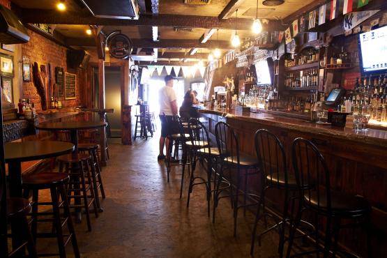 talking in bars