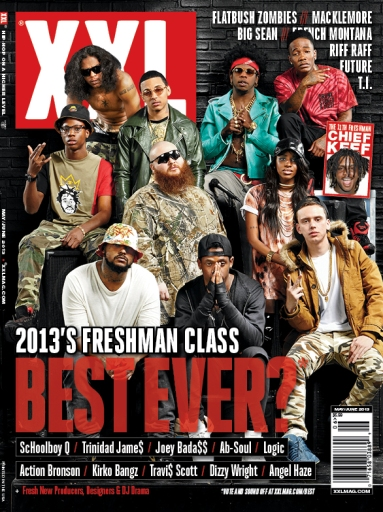 """Angel Haze was the only female artist to make the 2013 """"freshman"""" cover of XXL."""