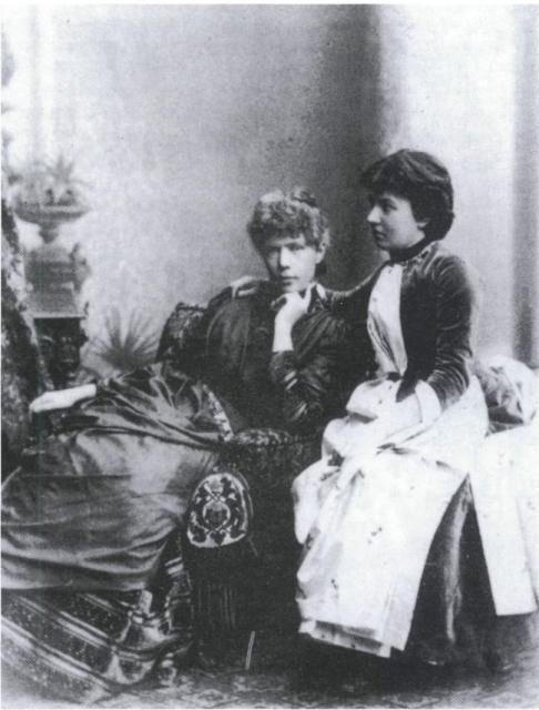 Anne-Charlotte Edgren-Leffler and Sonya Kowalevsky. Anne-Charlotte herself was an important feminist author in Sweden.