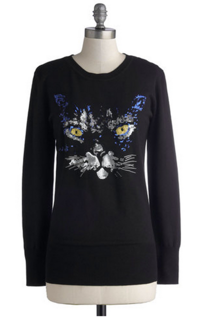 If you don't own a sequined cat sweater, you don't actually care about cats. Or sequin.