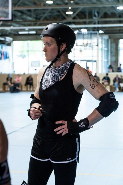 Joe: I'm so glad I'm playing derby instead of writing lecture notes…what a good decision. (photo credit: Gil Leora)