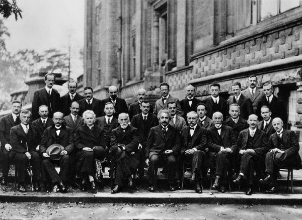 From Pollack's article comes this picture: attendees of the Solvay Conference in 1927. Look for Marie Curie in the front row; she was the only woman in attendance. via http://www.nytimes.com/2013/10/06/magazine/why-are-there-still-so-few-women-in-science.html?_r=0