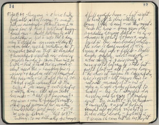 "The man who owned this journal apparently had ""famously illegible"" handwriting. He was also gay. Via Queerty"