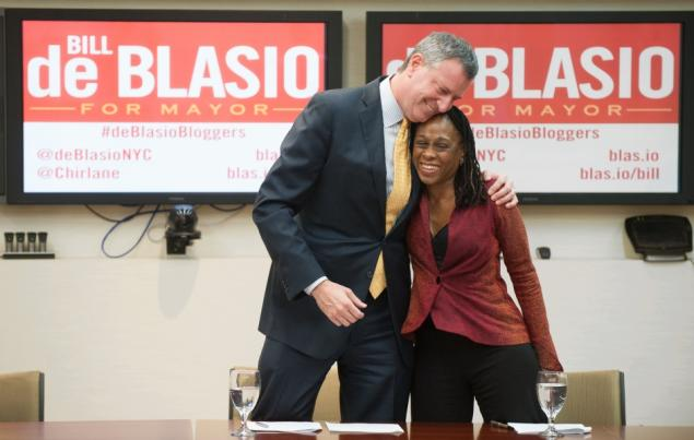 Bill de Blassio and Chirlane McCray