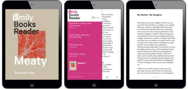 Look at this amazing new iOS7 app for Emily Books!