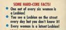 "16 ""Hard-Core Facts"" About Lesbians From 1963′s ""A New Look At The Lesbian"""