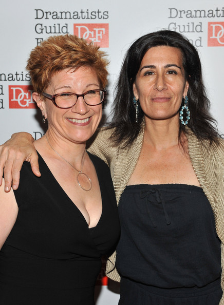 via [Zimbio] <> writers Lisa Kron (left) and Jeanine Tesori (right) via