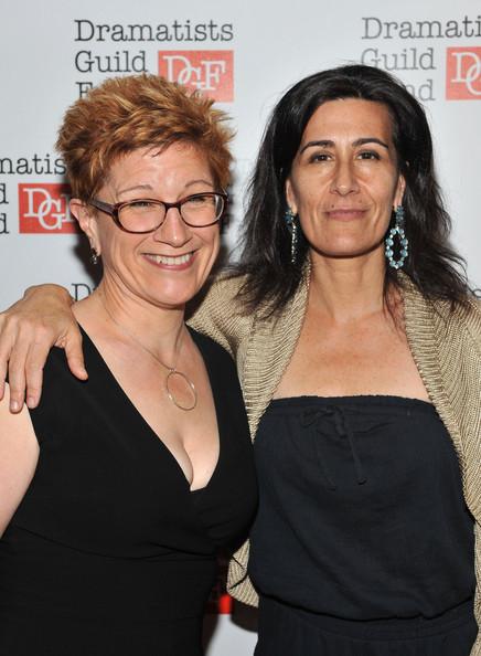 via [Zimbio] <> writers Lisa Kron (left) and Jeanine Tesori (right) via