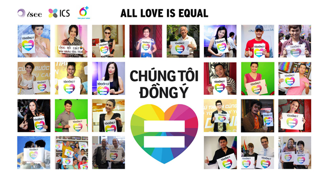Vietnam equality campaign by iSEE and ICS, organisations that are part of the ASEAN SOGIE Caucus via Trung Tâm ICS