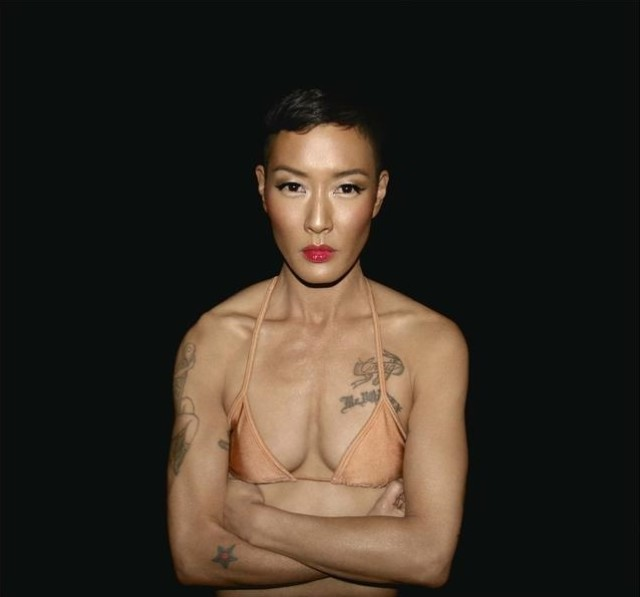 via asian women body rainbow