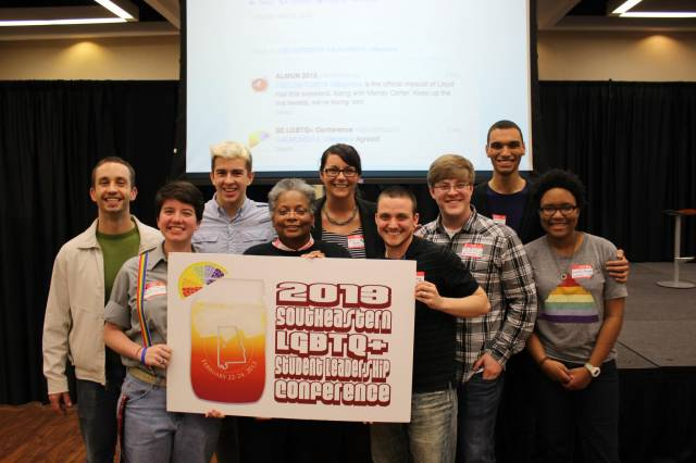 Student organizers with Mandy Carter of the National Black Justice Coalition and trans* activist Eli Strong -that's me on the right!