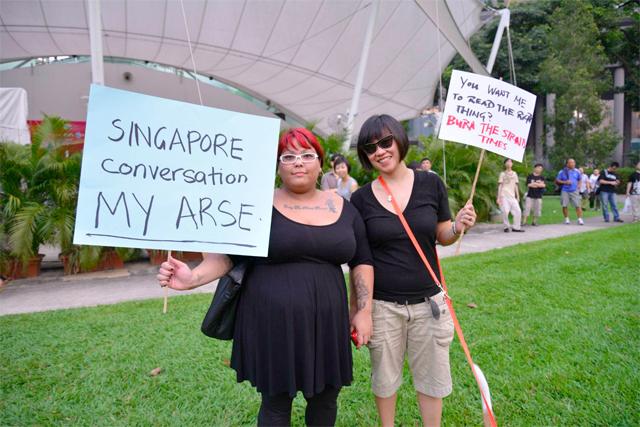 At the #FreeMyInternet rally, protesting a website licensing regime via Robin Ann Rheaume