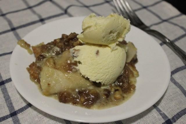 Laura's apple pie with ice cream.