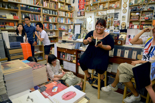 The launch of Tender Delirium at BooksActually, a small independent bookstore via Robin Ann Rheaume