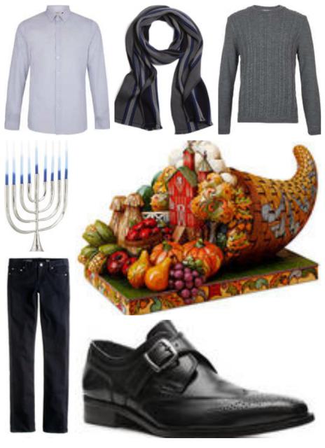 Topsho shirt/Merino scarf//Black straight leg pants/Monk Strap Shoes