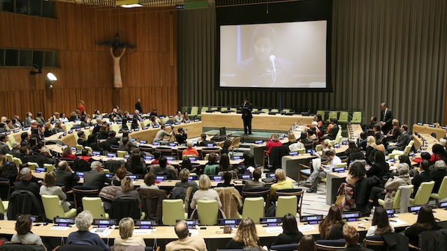 UN event commemorating International Day for the Elimination of Violence Against Women (Nov 25) via Rappler