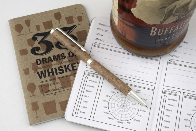 Unless, perhaps, it is this whiskey-themed pen, paired with this whiskey-themed notebook (the perfect gift for the queer who has everything?). Via Merrily Made