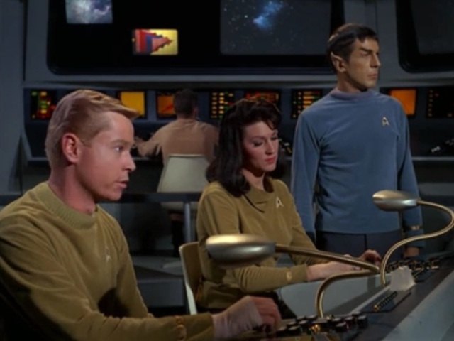 The Bridge Lineup – José, Number 1, and Spock