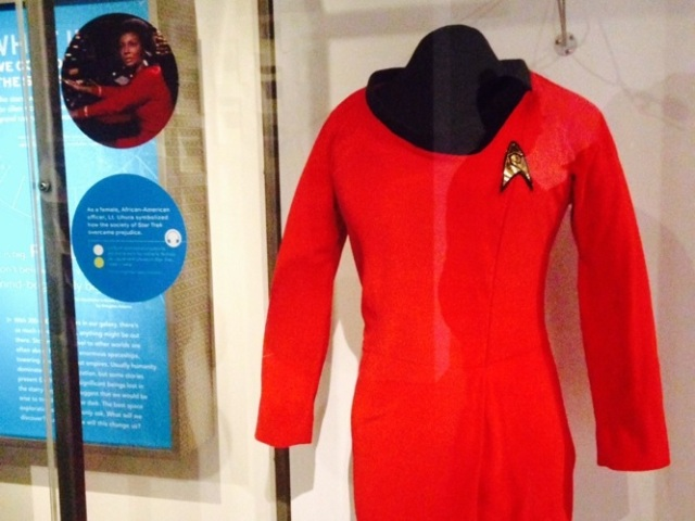 I was so excited to find Lt. Uhura's uniform on display at the EMP Museum in Seattle, a week after watching The Man Trap.