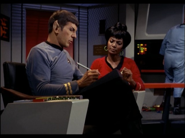 Spock: Your jokes aren't funny, Uhura.