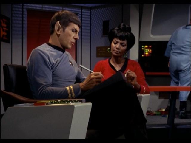 Spock: Your jokes aren't funny, Uhura.