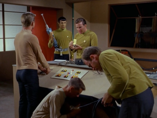 Spock armed with a galactic immersion blender.