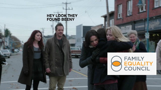 """This commerical for lesbian families brought to you by the """"Yep, They're Still 'Straight' or Something"""" Council."""